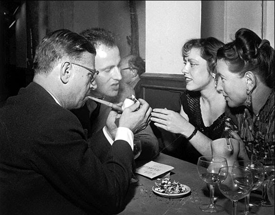 Lindsay Short-form | The Lost Generation; Cafes in Paris | Jean-Paul Sartre, Simone du Beauvoir and Boris Vian and his wife Michelle at Café de Flore