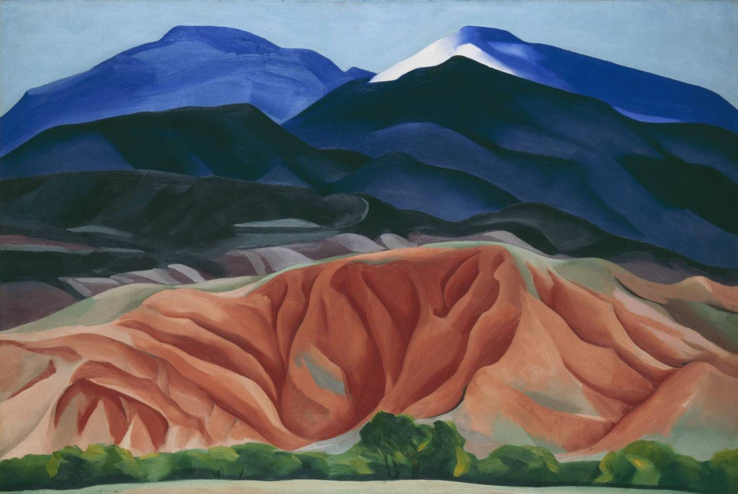 "Lindsay Essay | Georgia O'Keeffe's New Mexico | Georgia O'Keeffe, ""Black Mesa Landscape, New Mexico / Out Back of Marie's II,"" 1930. © Georgia O'Keeffe Museum/DACS, London."