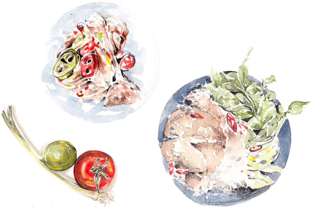 Lindsay Essay | A Culinary Intersection Between Aboriginal and Asian Cultures | Illustration by Evie Cahir for Lindsay