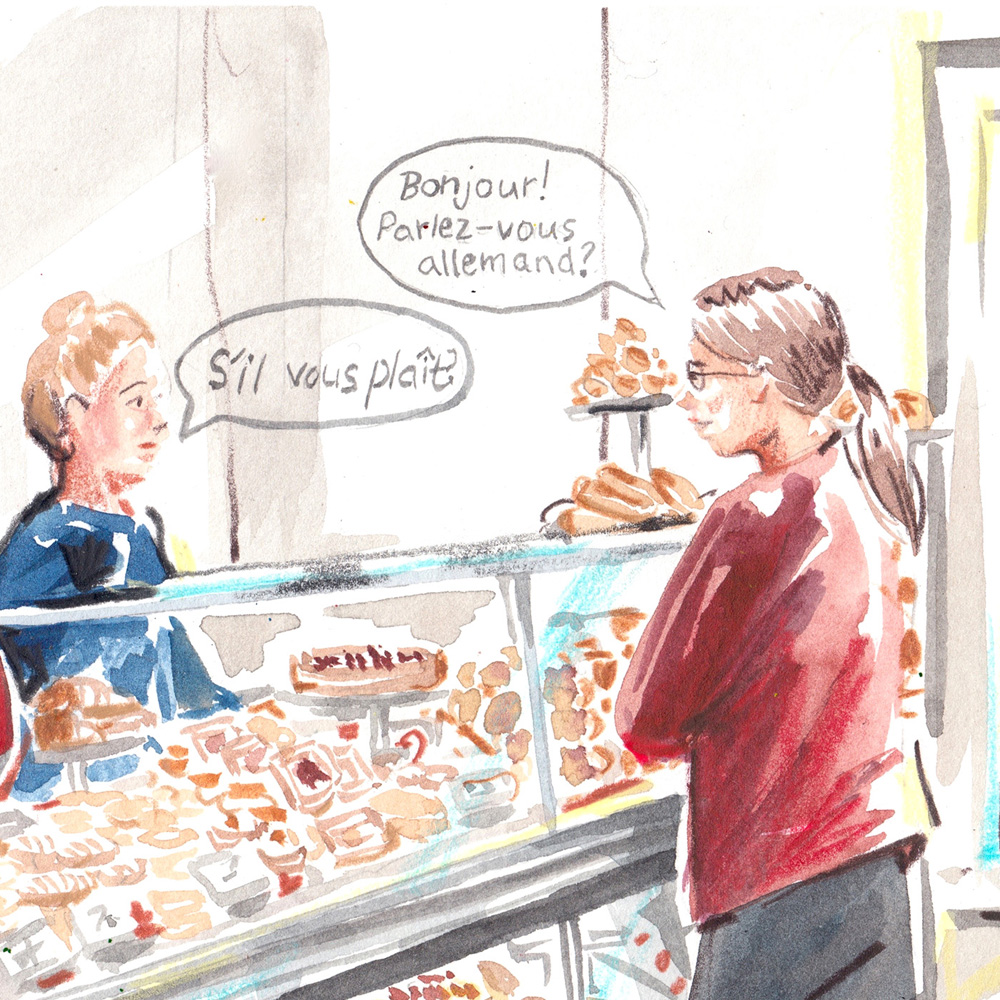 Lindsay Essay | Keeping Luxembourgish (Lëtzebuergesch) Living | Illustration by Evie Cahir