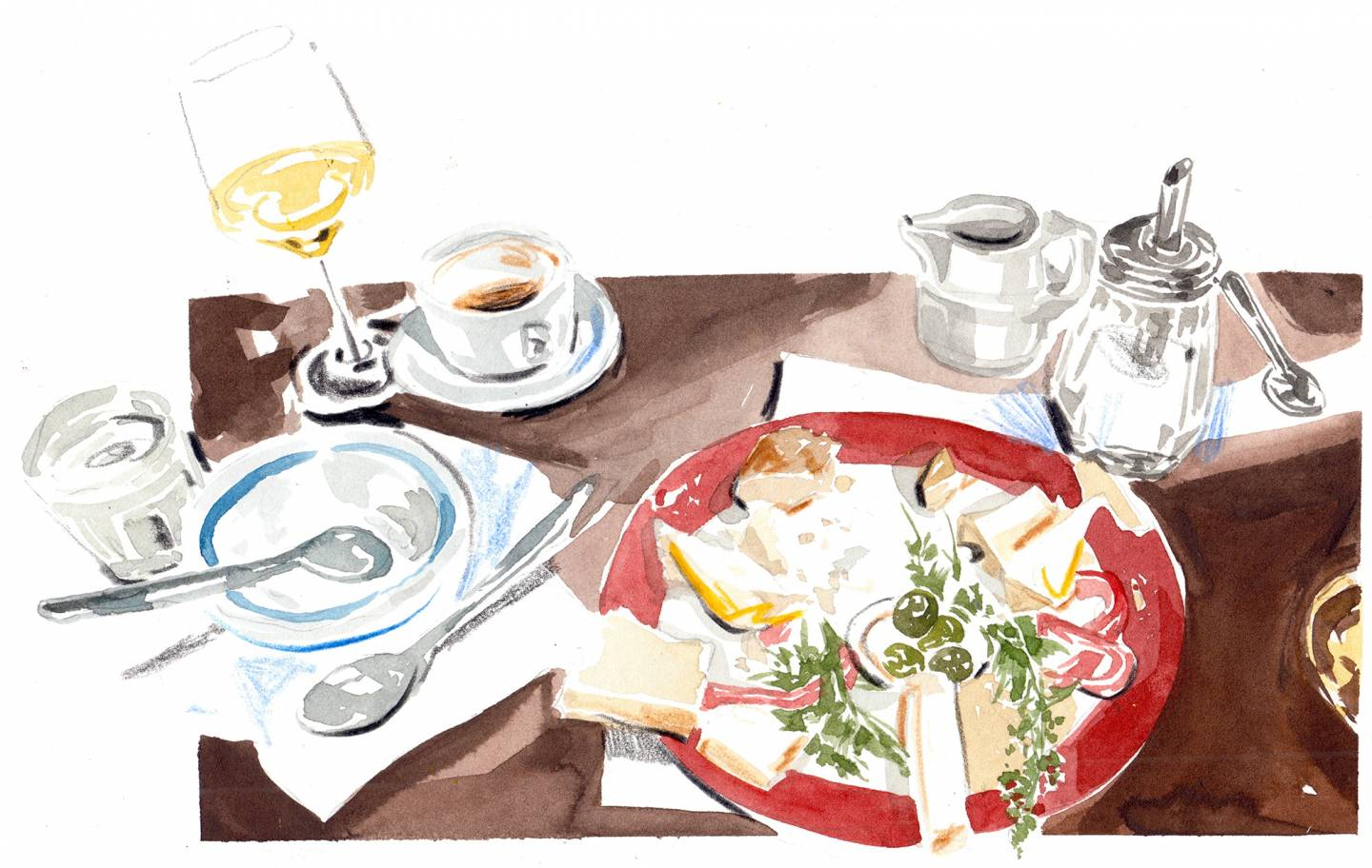 Lindsay | A Taste of Spain: How Tapas Took Over The World | Illustration by Evie Cahir for Lindsay