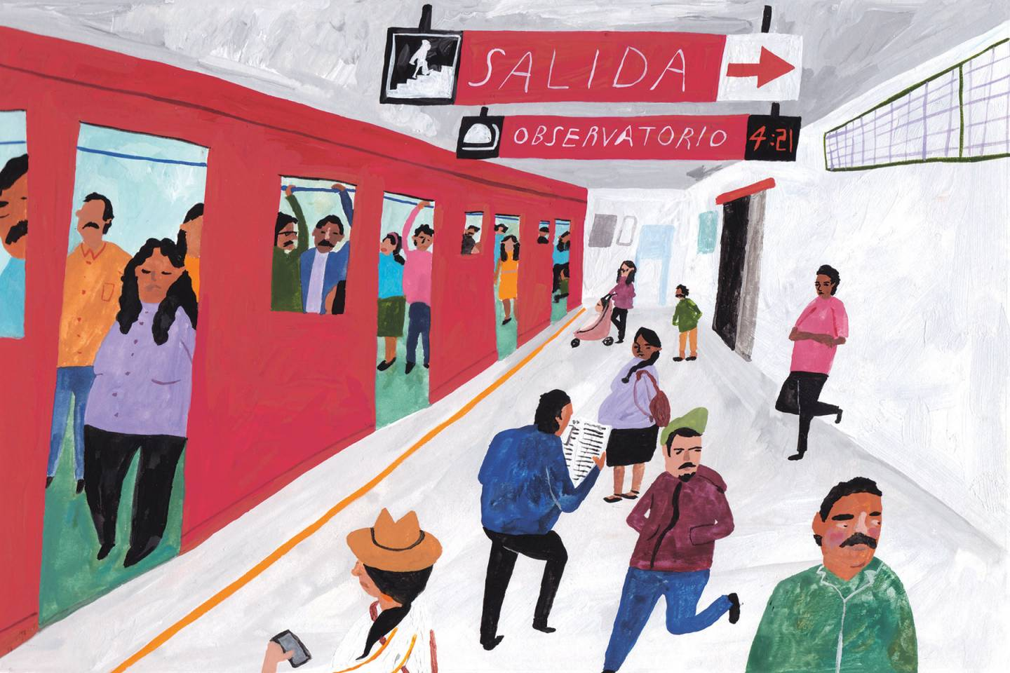 Lindsay | The Magic of Mexico City's Underground Metro | Illustration by Liz Rowland for Lindsay