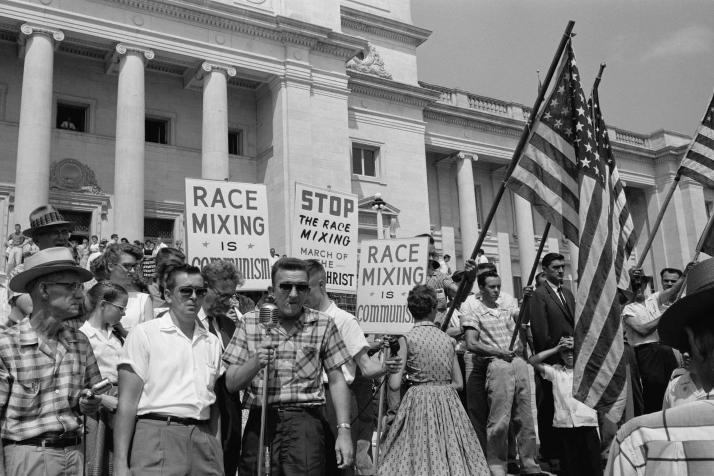 "Lindsay Film Review | I Am Not Your Negro, Raoul Peck documentary | Anti-integration rally in Little Rock in ""I Am Not Your Negro""."