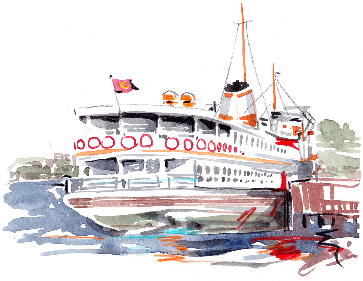 Lindsay | Ferries Departed | Artwork by Evie Cahir for Lindsay